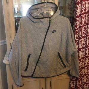 Nike women's Hooded angled zip Running Jacket L
